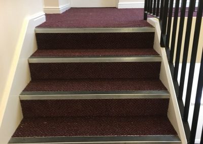 communal stairs carpet and nosings