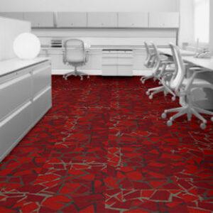 Interface Carpet Tiles 8344006 Red