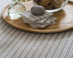 Boucle Neutral Stripe Carpet