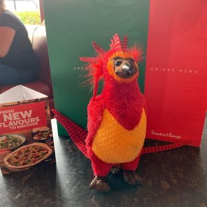 Gripper the Phoenix at Frankie and Benny's for brunch