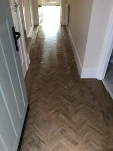 Parquet LVT Flooring Hallway at Brizen Park, Cheltenham - HALL FLOORING IDEAS