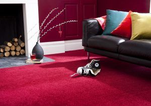 Colourful carpet colour red