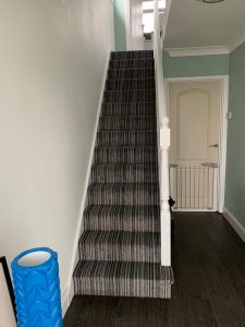 Lifestyle Striped Carpet Stairs