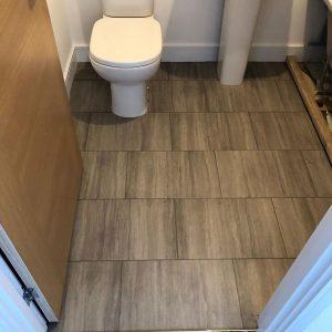 Amtico installed at Linden Homes - Bathroom