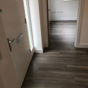Amtico installed at Linden Homes - Hallway